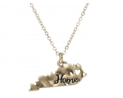 Gold Kentucky State Map Home Necklace