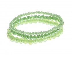 Light Green Crystal Stretch Bracelets 3 Set