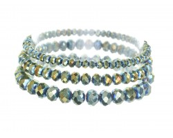 Viteral Medium Crystal Stretch Bracelets 3 Set