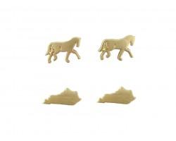 Gold Kentucky Map Horse Post Earring Set