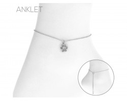 Silver Paw Anklet