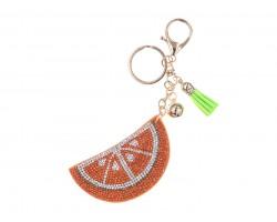 Orange Crystal Fruit Puffy Key Chain