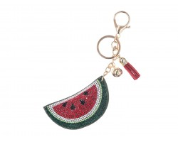Red Watermelon Crystal Fruit Puffy Key Chain