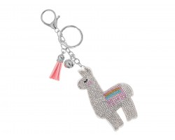 Multi Llama Crystal Puffy Key Chain