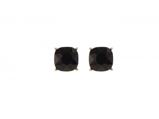 Violet Purple Acrylic Cushion Shape Gold Post Earrings