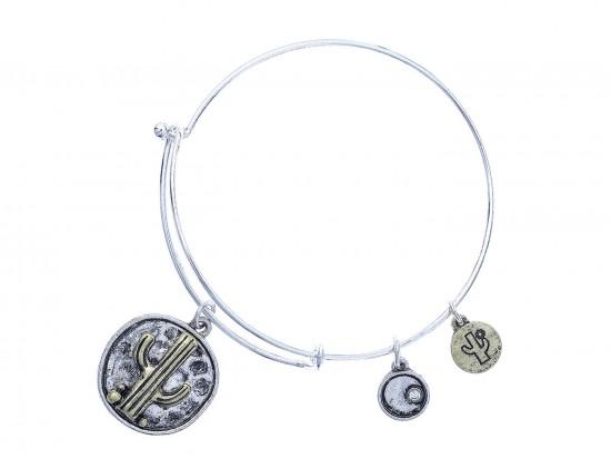 Silver Cactus Charm Bracelet
