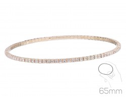 Gold Clear Crystal Super Flex Memory Wire Bracelet