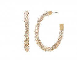 Gold Glitter Hoop Gold Earrings