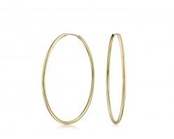 Gold Brass Endless 50mm Hoop Earrings