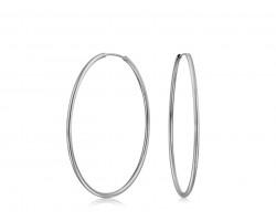 Silver Brass Endless 50mm Hoop Earrings