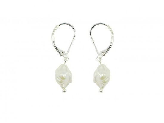 Pearl Freshwater Silver Euro Clip Earrings