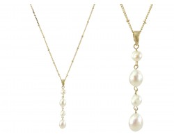 Pearl Freshwater Tier Beads Pendant Necklace