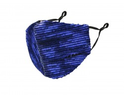 Blue Sequin Face Mask