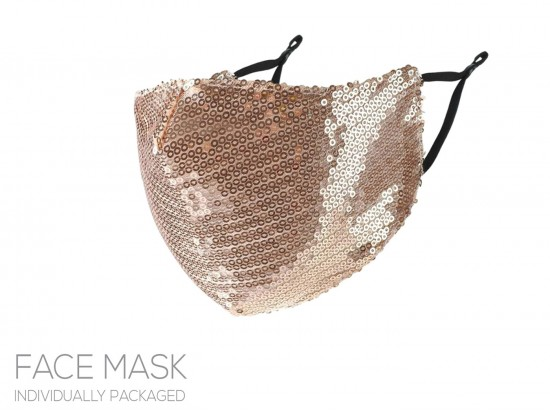 Gold Sequin Face Mask