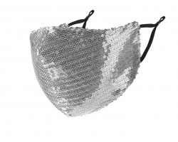 Silver Sequin Face Mask