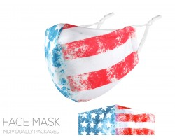 USA Flag Distressed Face Mask