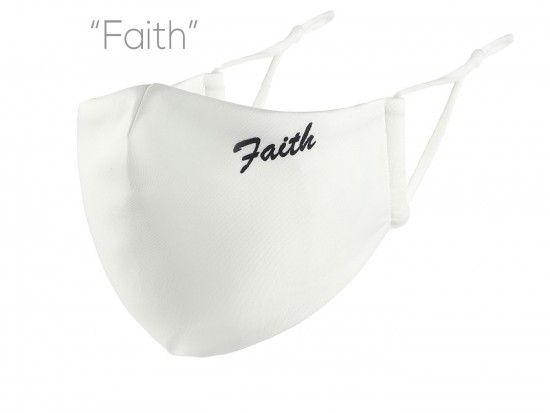 White Faith Face Mask
