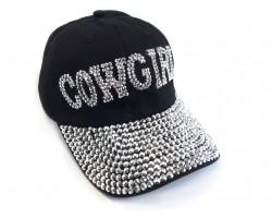Cowgirl Crystal Black Cap