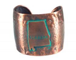 Chocolate Hammered ALABAMA Cuff Bracelet