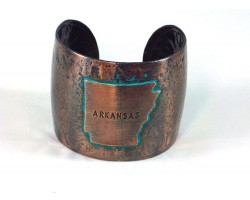 Chocolate Hammered ARKANSAS Cuff Bracelet