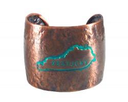 Chocolate Hammered KENTUCKY Cuff Bracelet