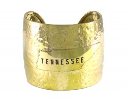 Gold Hammered Tennessee Cuff Bracelet
