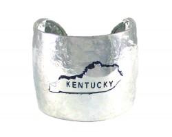 Silver Hammered KENTUCKY Cuff Bracelet