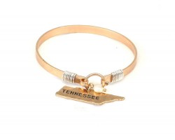 Gold Tennessee State Map Pearl Bangle