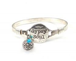 Silver GYPSY SOUL Wire Bracelet