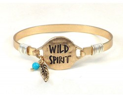 Gold WILD SPIRIT Wire Bracelet