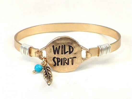 Gold WILD SPIRIT Wire Bracelet