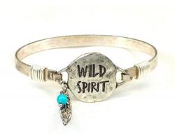 Silver WILD SPIRIT Wire Bracelet