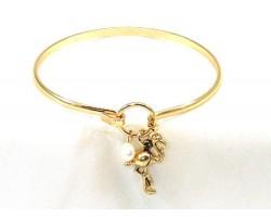 Gold Plated FLAMINGO Wire Bracelet