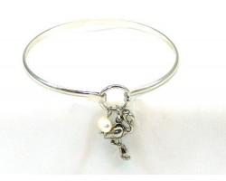 Silver FLAMINGO Wire Bracelet