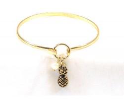 Gold Pineapple Wire Bracelet