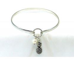Silver Pineapple Wire Bracelet