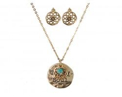 Gold Plate GYPSY SOUL Necklace Set