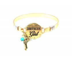 Gold Southern Girl Wire Wrapped Bracelet