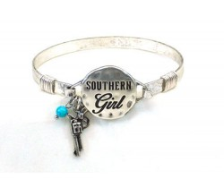 Silver Southern Girl Wire Wrapped Bracelet