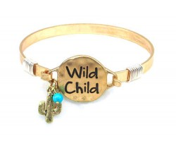 Gold Wild Child Wire Wrap Bracelet
