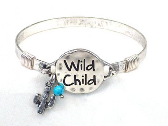 Silver Wild Child Wire Wrap Bracelet