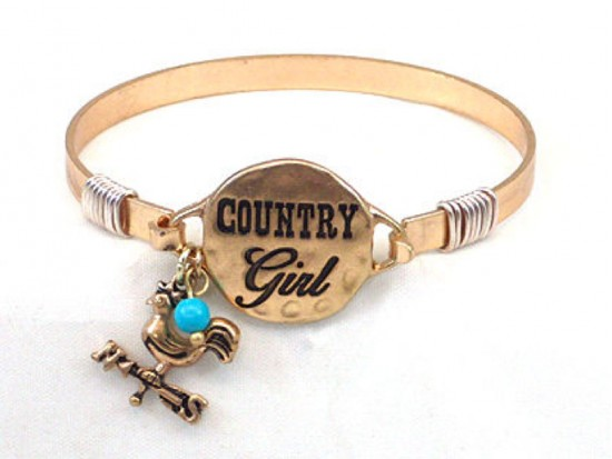 Gold Country Girl Wire Wrap Bracelet