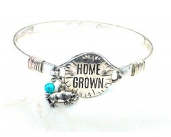 Silver Home Grown Wire Wrap Bracelet