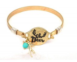 Gold Oh Deer Wire Wrap Bracelet