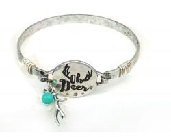 Silver Oh Deer Wire Wrap Bracelet