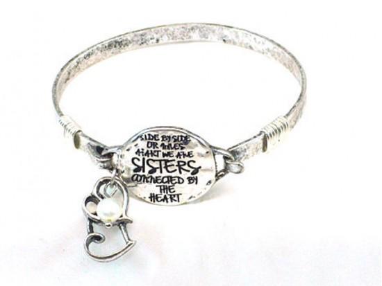 Silver Sisters Wire Wrap Bracelet