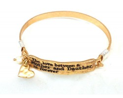 Gold Mother Daughter Love Wire Wrap Bracelet