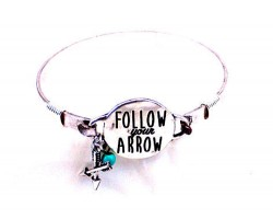 Silver Follow Your Arrow Wire Wrap Bracelet