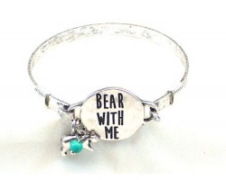Silver Bear With Me Wire Wrap Bracelet