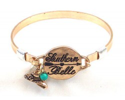 Gold Southern Belle Wire Wrap Bracelet